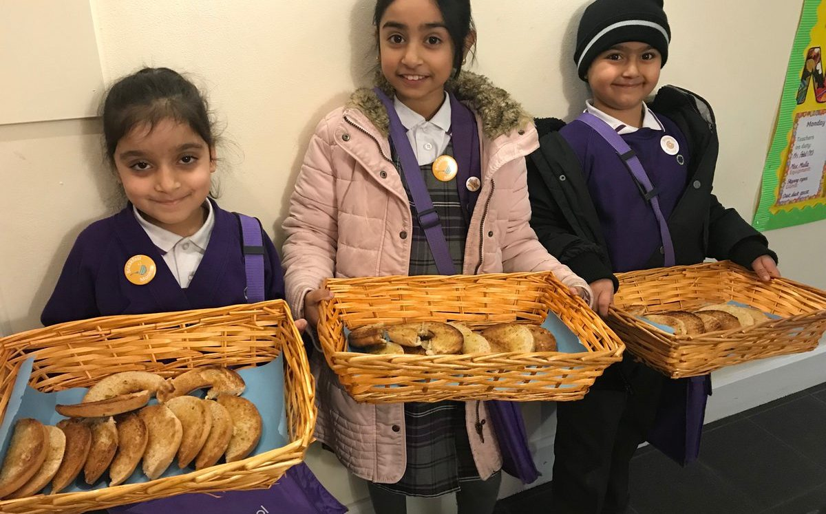 Pupils set up for the day with free school breakfasts